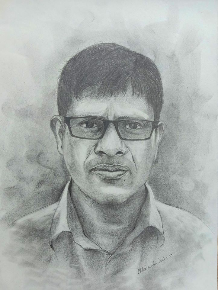 Portrait drawing of Md Mizanur Rahman Manik